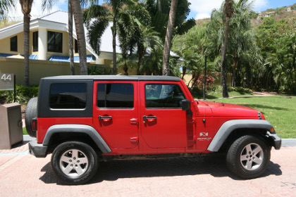 A Jeep is a very popular rental vehicel on St John.